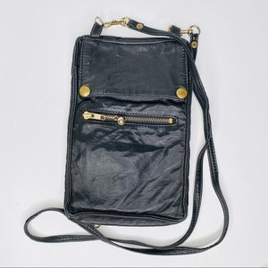 Neto Soft Black Leather Crossbody Bag Excellent